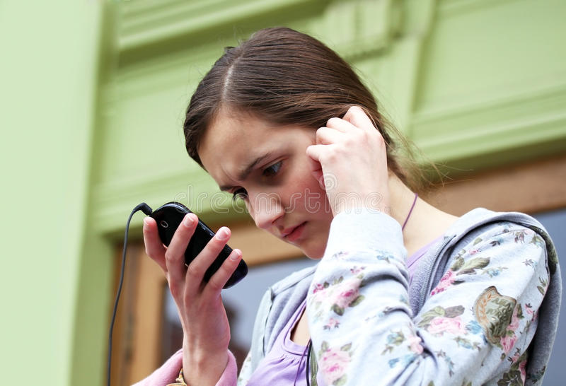 Download Girl with phone stock photo. Image of digital, charming - 28823804