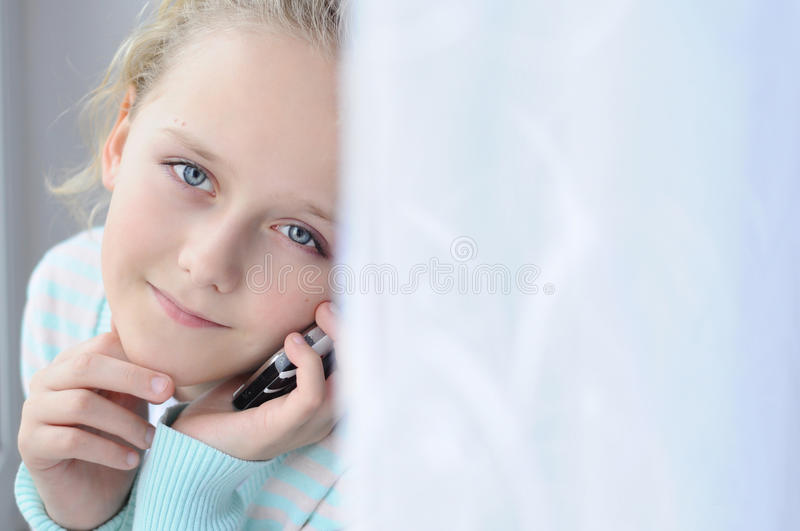 Download Girl with a phone stock image. Image of beautiful, people - 33424989