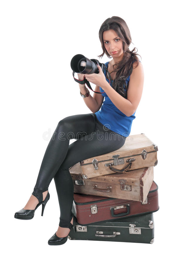 Download The girl the photographer stock photo. Image of excellent - 12596616