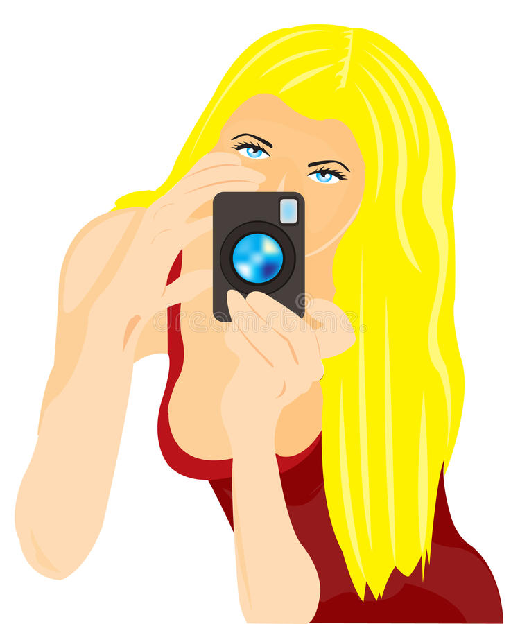 Download Girl photographer stock vector. Image of photographer - 20920537