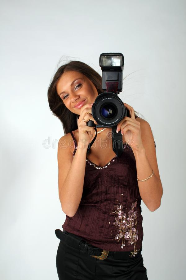 Girl - photographer royalty free stock images