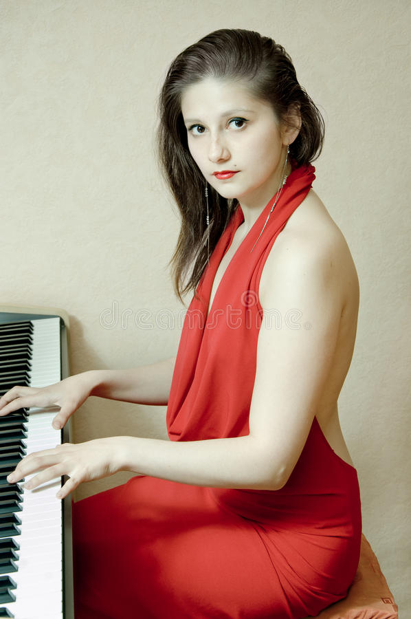 Download The girl at the piano stock image. Image of luxury, care - 19767365