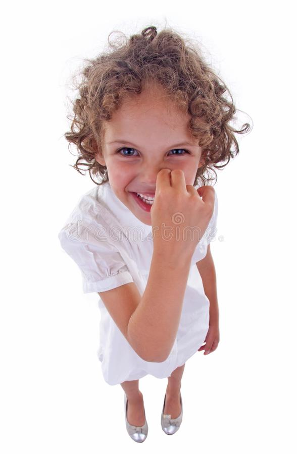 Download Girl picking her nose stock image. Image of head, innocent - 15824581