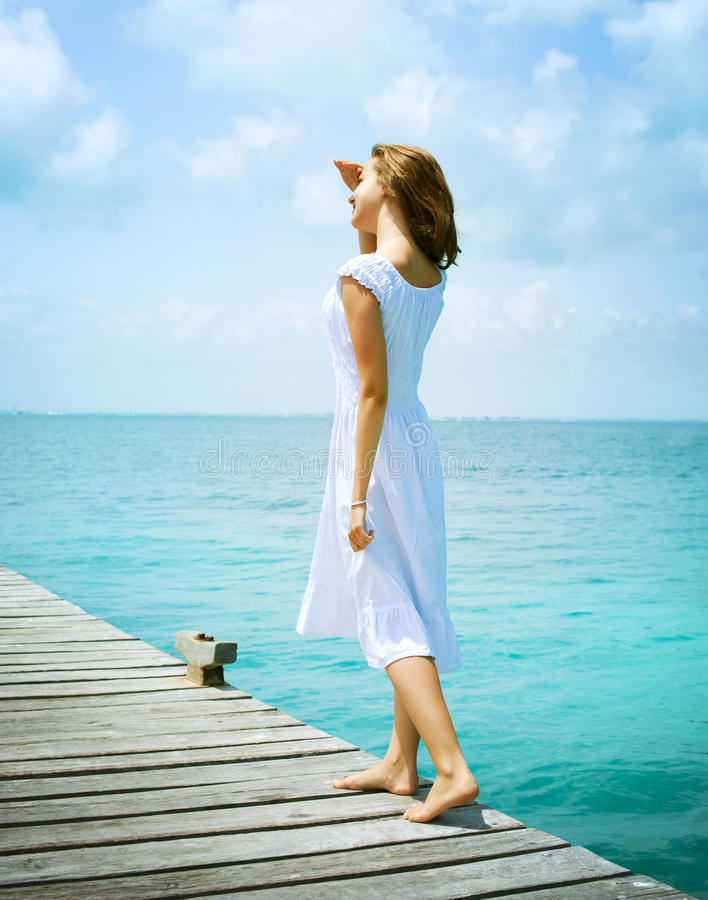 Download Girl On The Pier Royalty Free Stock Image - Image: 24814476