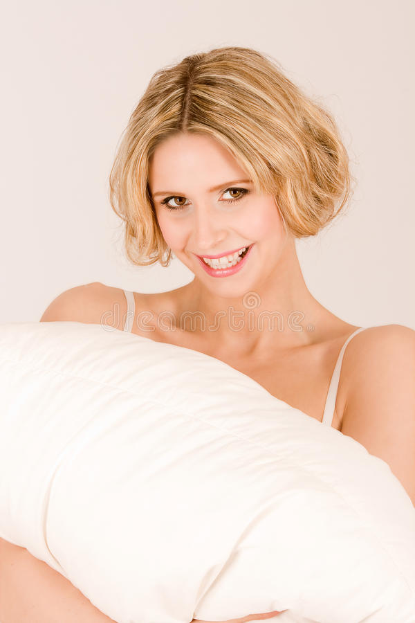 Download Girl With Pillow Royalty Free Stock Photography - Image: 20158547