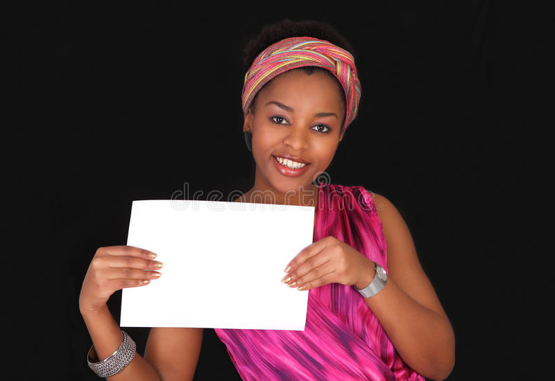 Download Girl With Placard Royalty Free Stock Photo - Image: 23304875