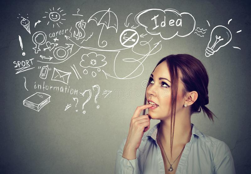 Girl planning life in mind stock image