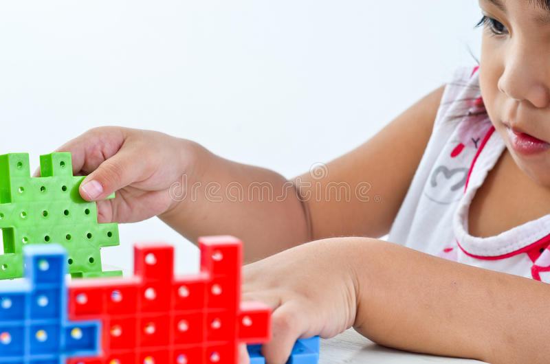 Kid play and creative royalty free stock image