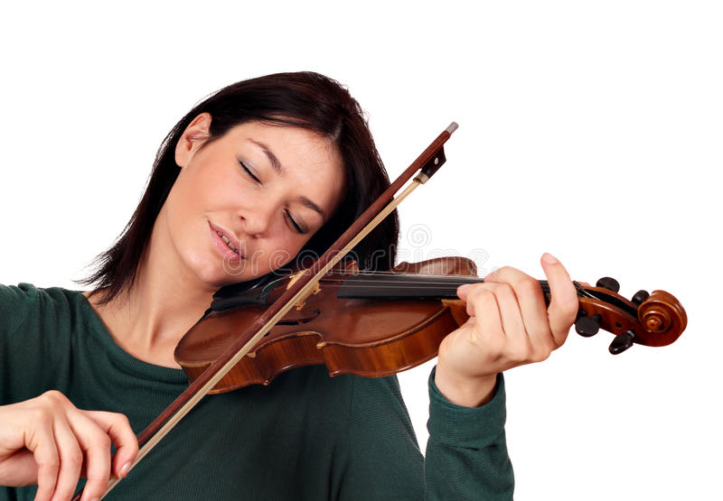 Girl Play Violin Royalty Free Stock Photos