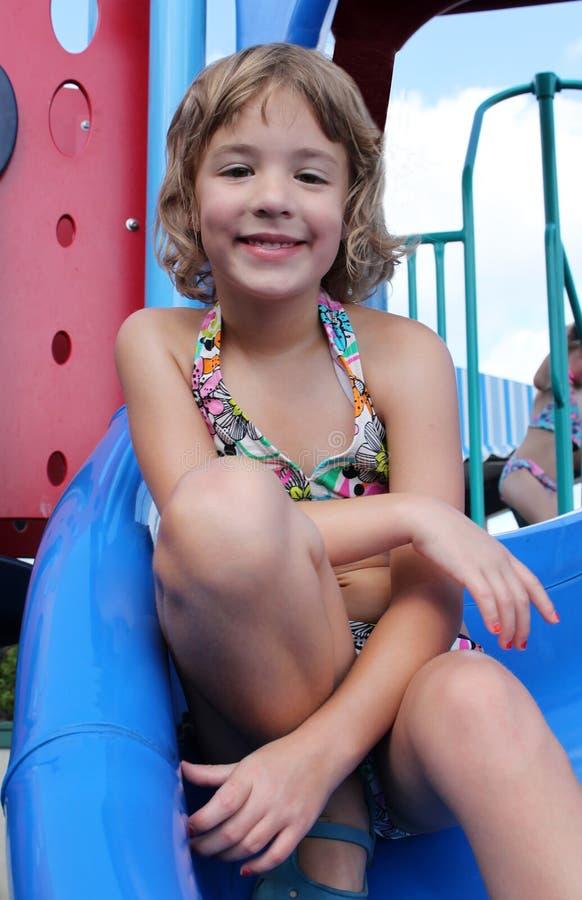 Girl on Playground stock image
