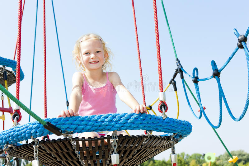 Download Girl at playground stock photo. Image of outdoors, people - 27009812