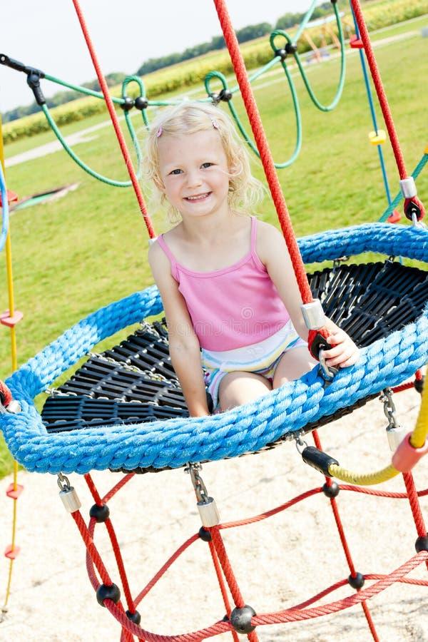 Girl At Playground Royalty Free Stock Photos