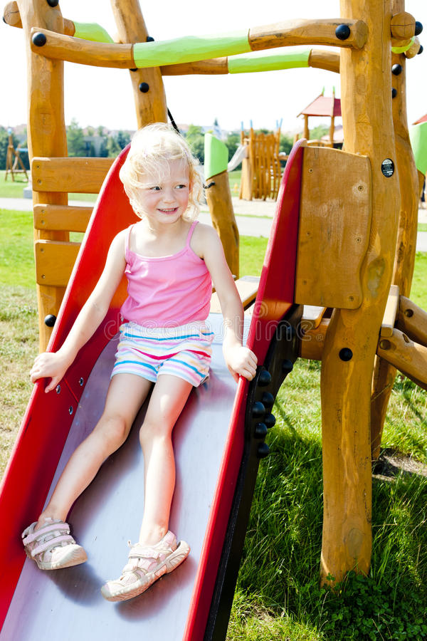 Download Girl at playground stock photo. Image of playground, emotions - 27009846