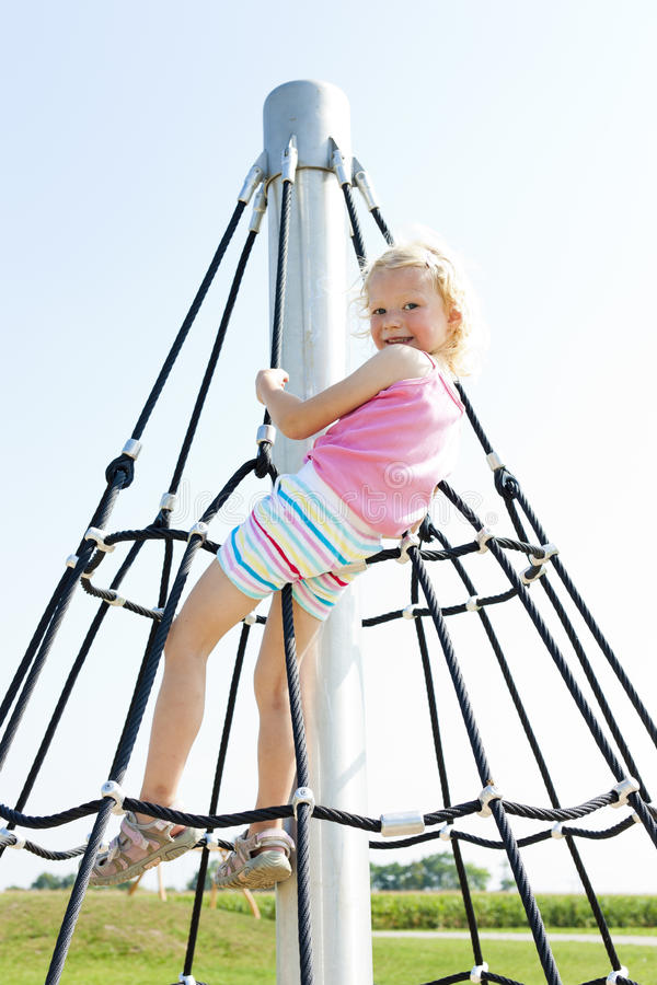 Download Girl at playground stock photo. Image of people, blond - 27009852