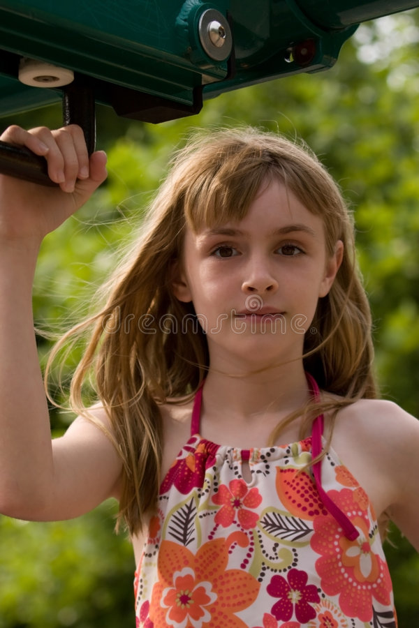 Girl at the Playground royalty free stock images