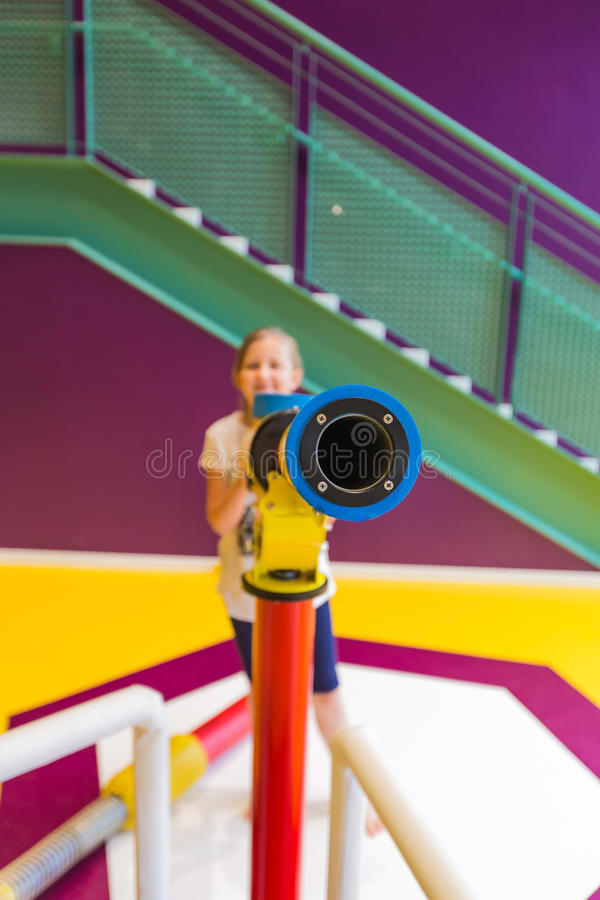 Girl on the playground stock photography