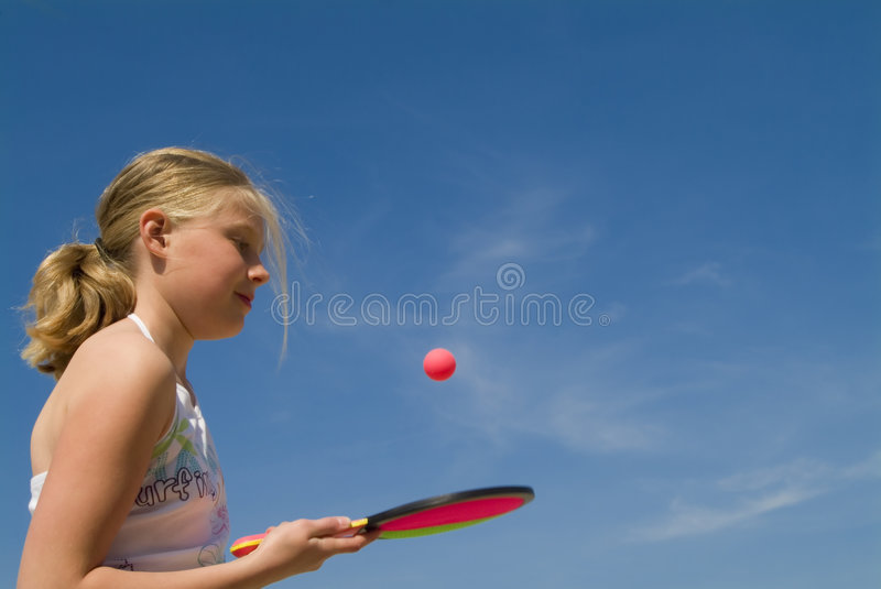Download Girl Playing A Ball Game Stock Image - Image: 2303291