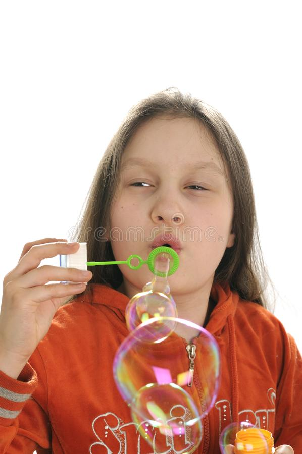 Download Girl playing with bubbles stock photo. Image of hands - 9050898