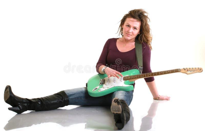 Download Girl playing guitar stock image. Image of music, band - 12820927