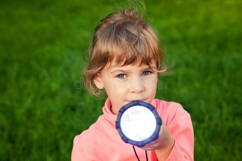 Download Girl Playing With Lantern On Grass Stock Photo - Image of handle, bright: 13021198