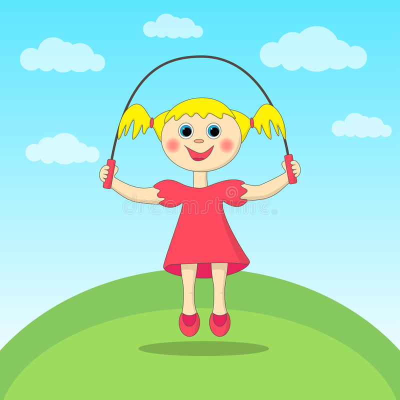 Girl playing with a skipping-rope