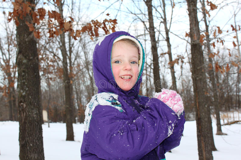 Download Girl Playing In The Snow Royalty Free Stock Photos - Image: 12319608