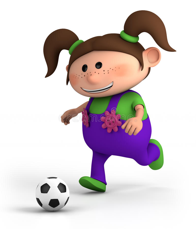 Download Girl playing soccer stock illustration. Image of female - 20207645