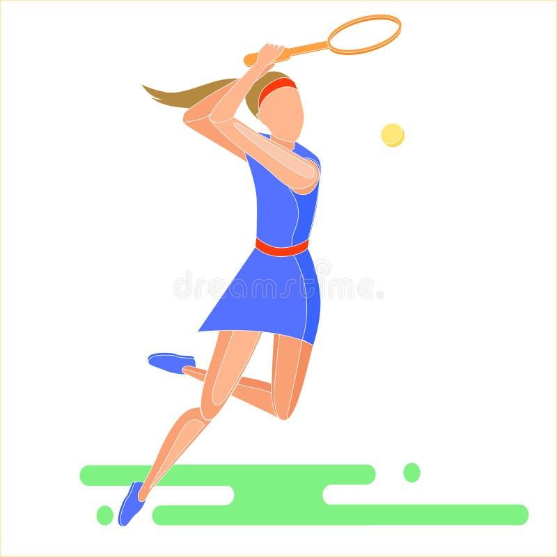 Girl playing tennis. royalty free stock photos