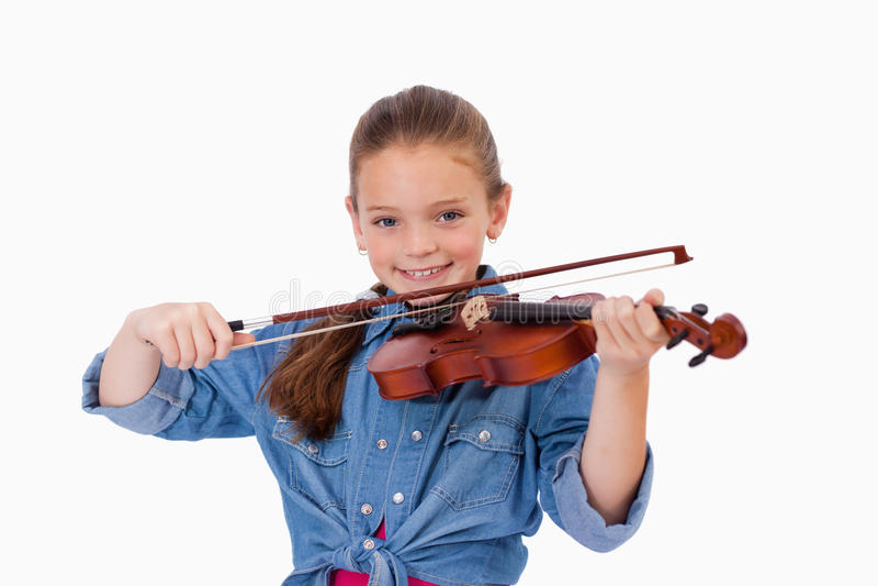 Girl Playing The Violin Stock Photography