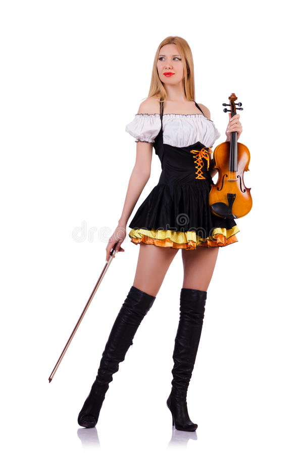 Download Girl playing violin stock image. Image of fiddle, oktoberfest - 34468841