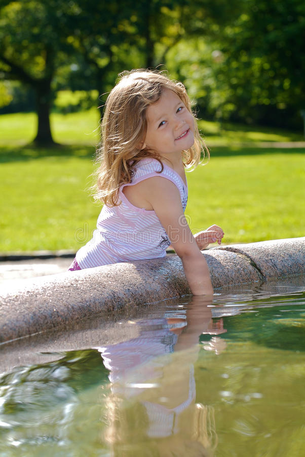 Download Girl playing with water stock image. Image of excitement - 10452399