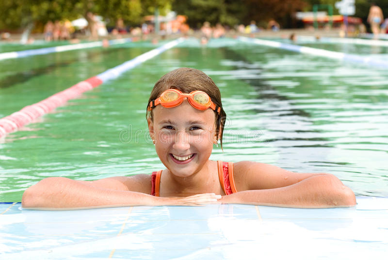 Download Girl in pool stock photo. Image of child, childhood, sunlight - 11127812