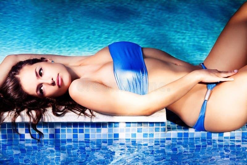 Download Girl at pool stock image. Image of seductive, nature - 22868289