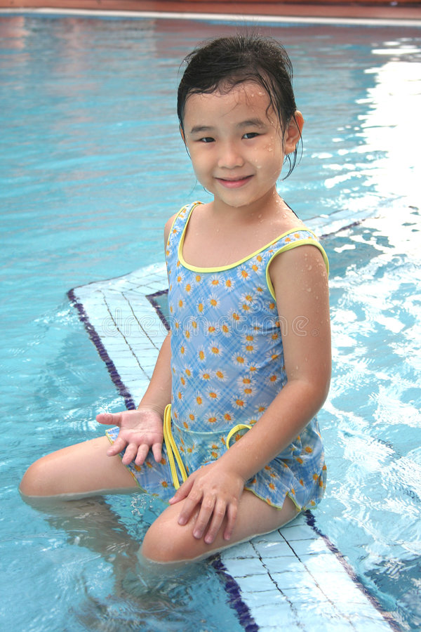 Download Girl At The Pool Royalty Free Stock Image - Image: 2309646