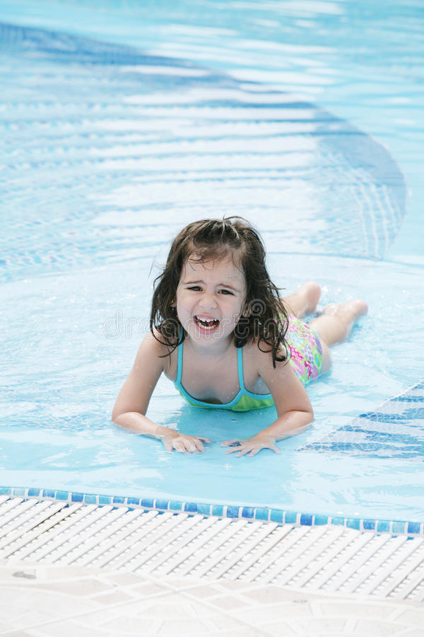 Download Girl in the pool stock image. Image of pool, floating - 26185533