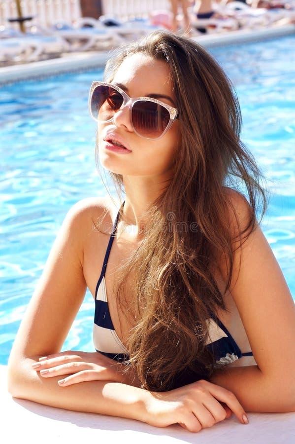 Download Girl in pool stock image. Image of beautiful, girl, beauty - 29390147