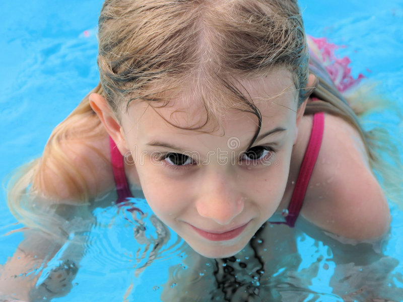 Download Girl in pool stock photo. Image of active, play, happiness - 5249646