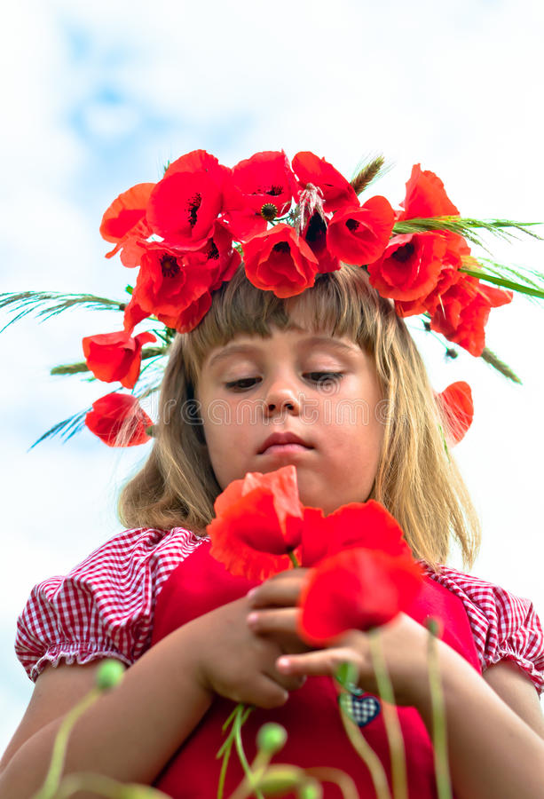 Download Girl With Poppies Royalty Free Stock Image - Image: 25224666