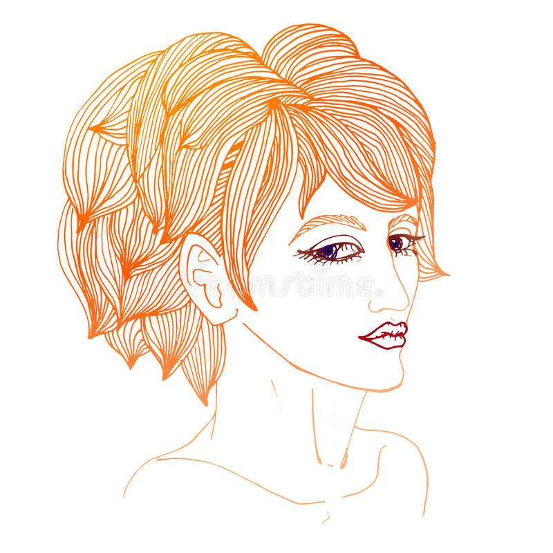 Download Girl stock vector. Image of cover, head, long, fashion - 33933261
