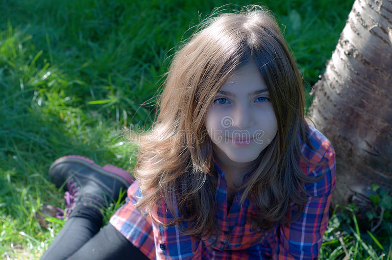 Girl Portrait - Outdoors stock photo