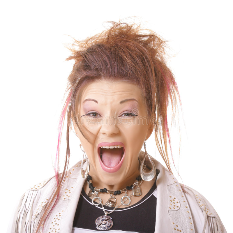 girl portrait scared screaming στοκ φωτογραφία με δικαίωμα ελεύθερης χρήσης