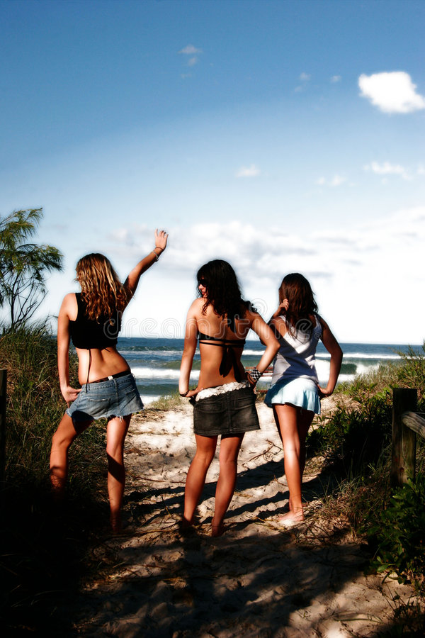 Download Girl Power stock photo. Image of women, beach, power, teenagers - 160370