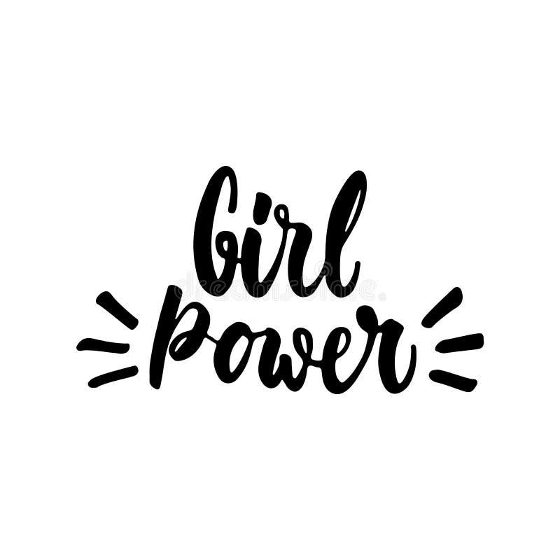 girl power hand drawn lettering phrase isolated on the white background fun brush ink brush teeth clip art brush clip art transparent