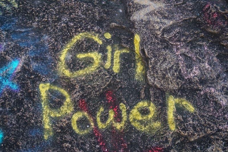 Girl Power Graffiti stock photography