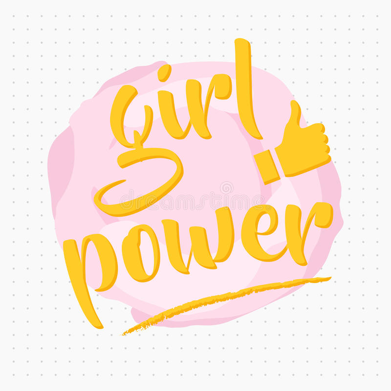 Girl power royalty free illustration