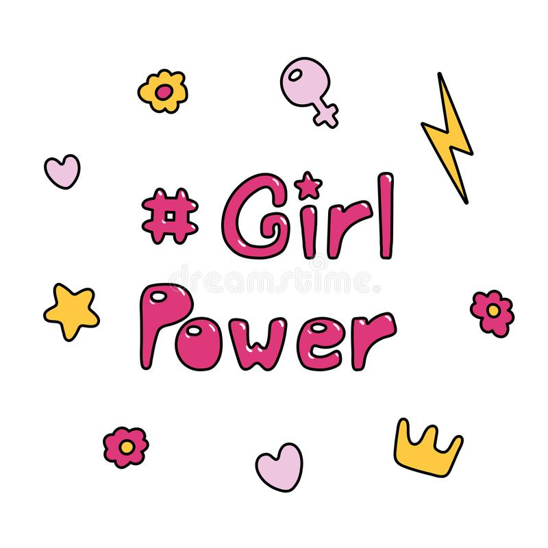 Girl power quote royalty free illustration