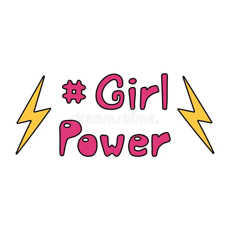 Girl power quote stock illustration