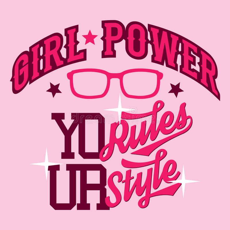 Girl power t-shirt design stock vector. Illustration of cool - 51201498