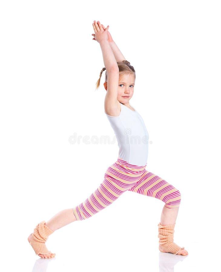 Download Girl practice yoga stock photo. Image of happiness, bedding - 54371464