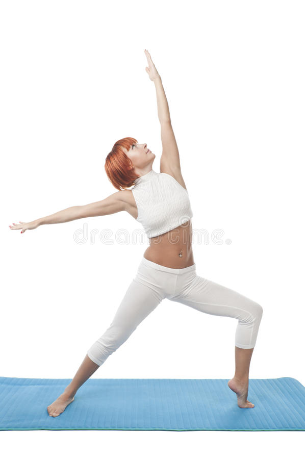 Download Girl practicing yoga stock image. Image of female, young - 15154321